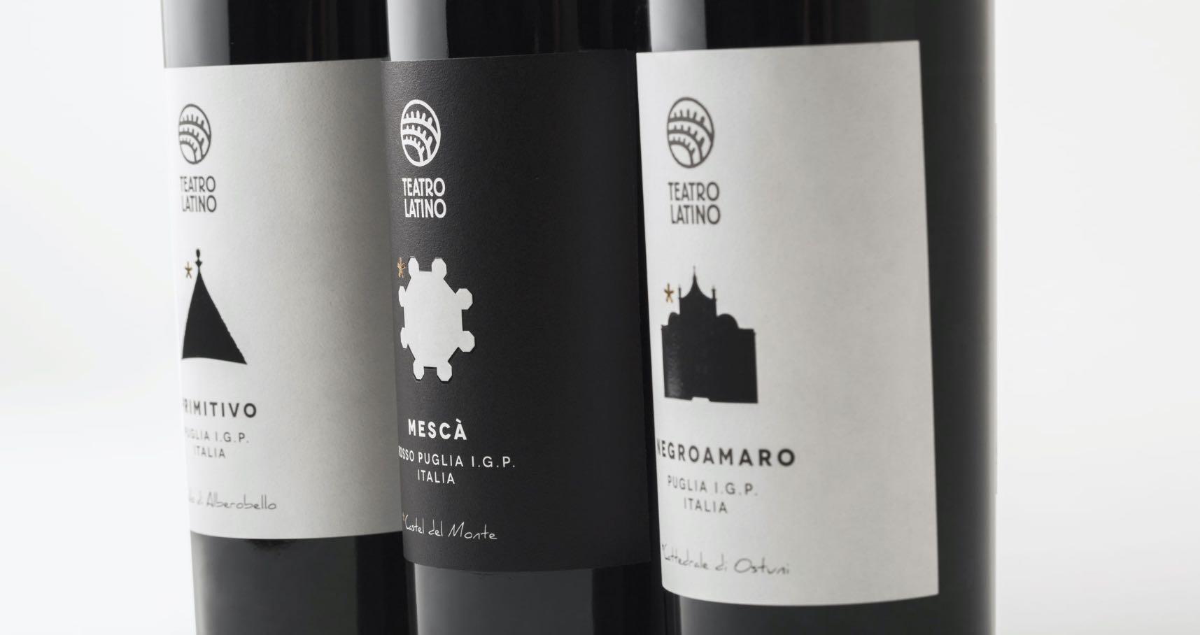 Bottiglie di vino di Teatro Latino